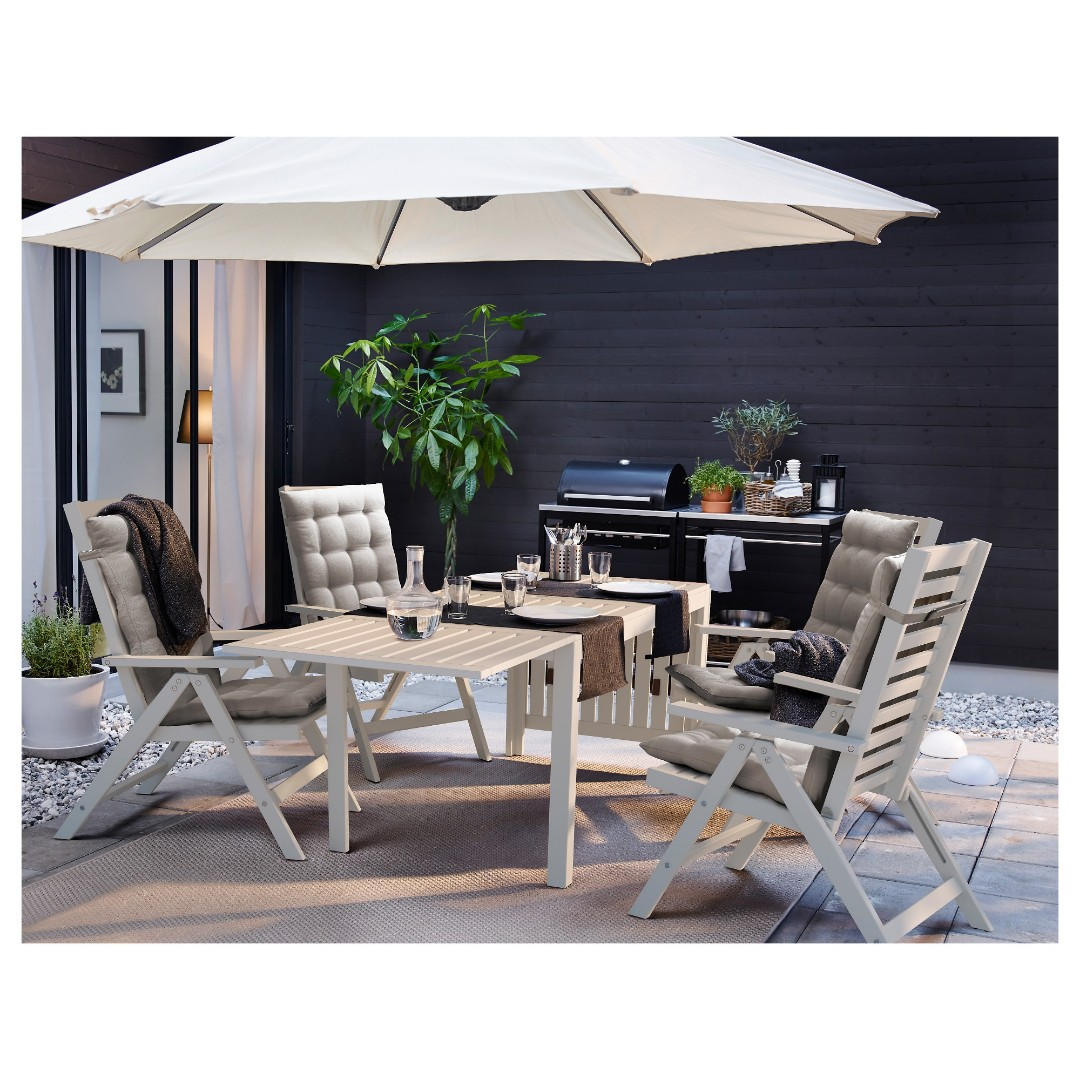 Ikea Applaro Outdoor Table And 6 Chairs, Furniture, Tables - IKEA Applaro Patio Furniture