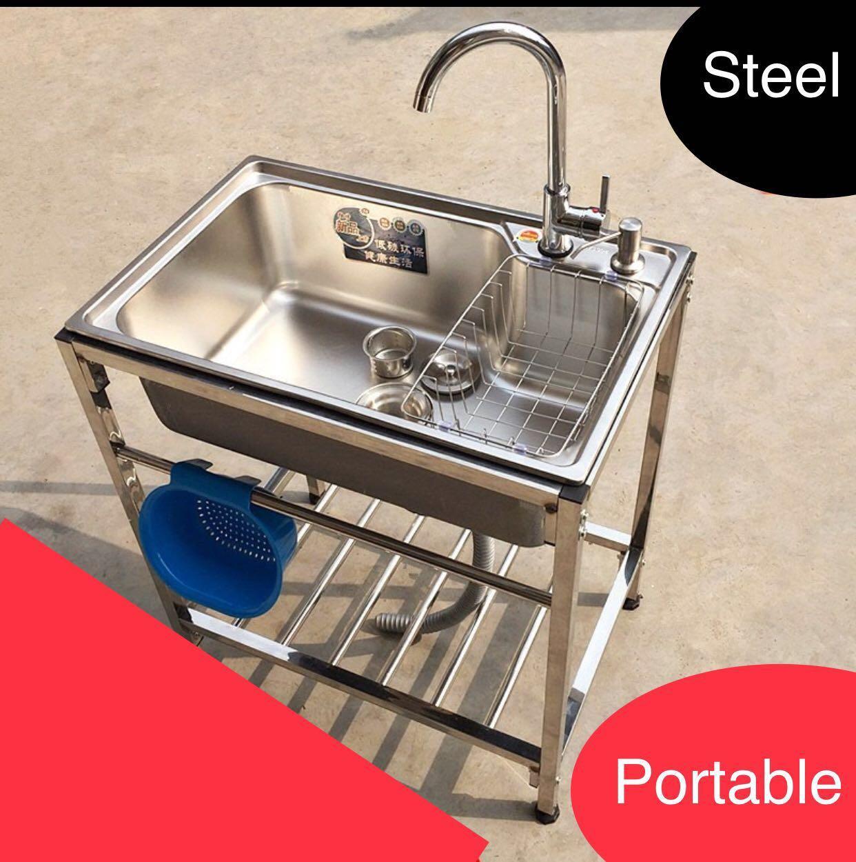 preorder portable basin steel sink hand wash bowl