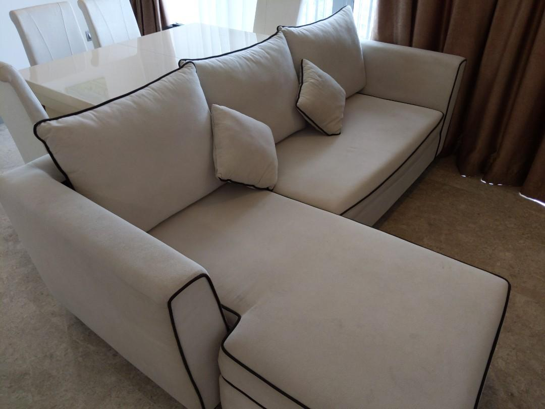 preloved 3 seater sofa with leg rest