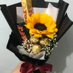 Sunflower Chocolate Bouquet Gardening Flowers Bouquets On Carousell