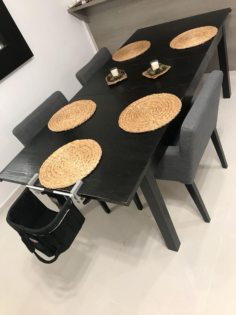 Extendable Dining Table Ikea Furniture Tables Chairs On Carousell