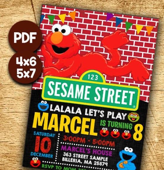 30 pcs elmo invitation elmo birthday invitation elmo birthday sesame street birthday