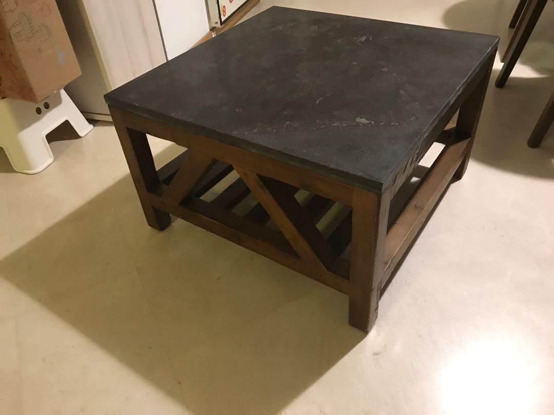 crate barrel coffee table marble top