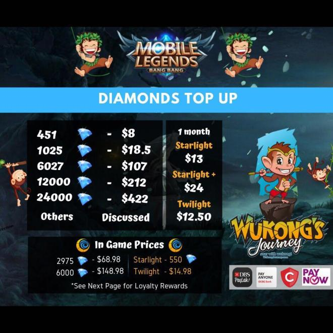 cheapest mobile legend bang bang diamonds on carousell