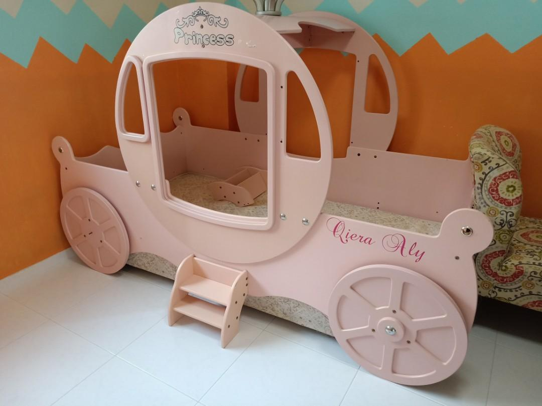 Princess Carriage Bed For Little Girls Furniture Beds Mattresses On Carousell