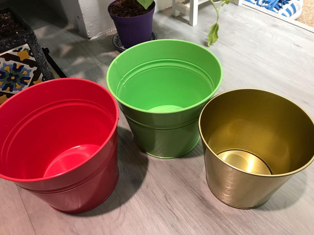 Ikea Flower Pots Gardening Pots Planters On Carousell