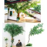 Artificial Leaves Tree Branches Trees Vines Fake Leaves Living Room Indoor Green Plant Potted Vines Fake Flowers Rattan Plant Wall Decoration Gardening Gardening Tools Ornaments On Carousell
