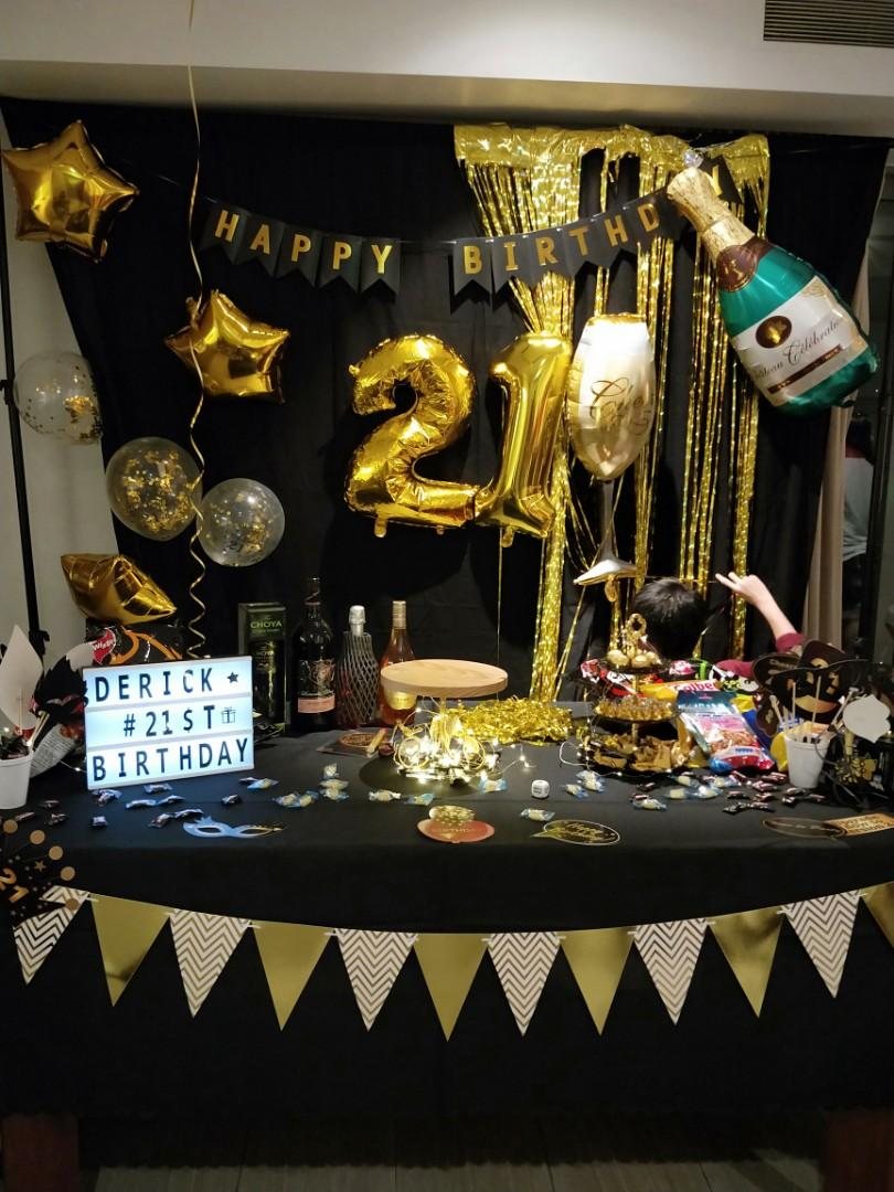 21st Birthday Party Decorations Items Hobbies Toys Stationery Craft Occasions Party Supplies On Carousell