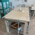 Rustic White Dining Table Furniture Tables Chairs On Carousell