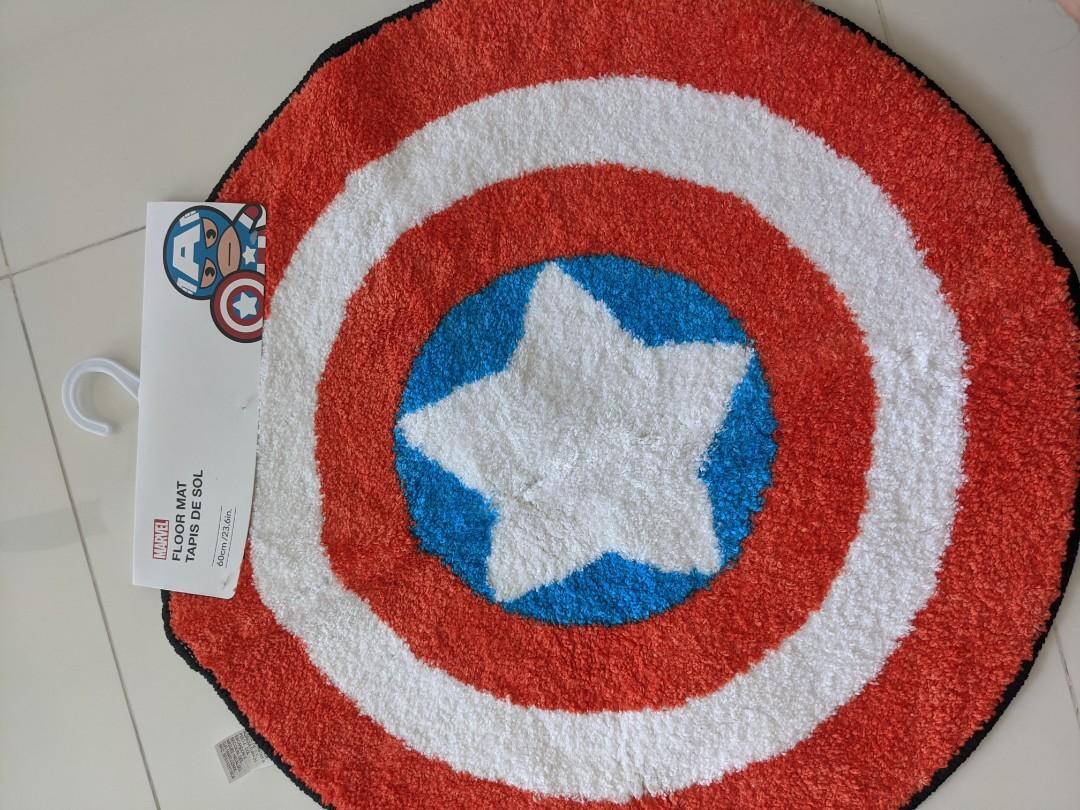 miniso captain america floor mat