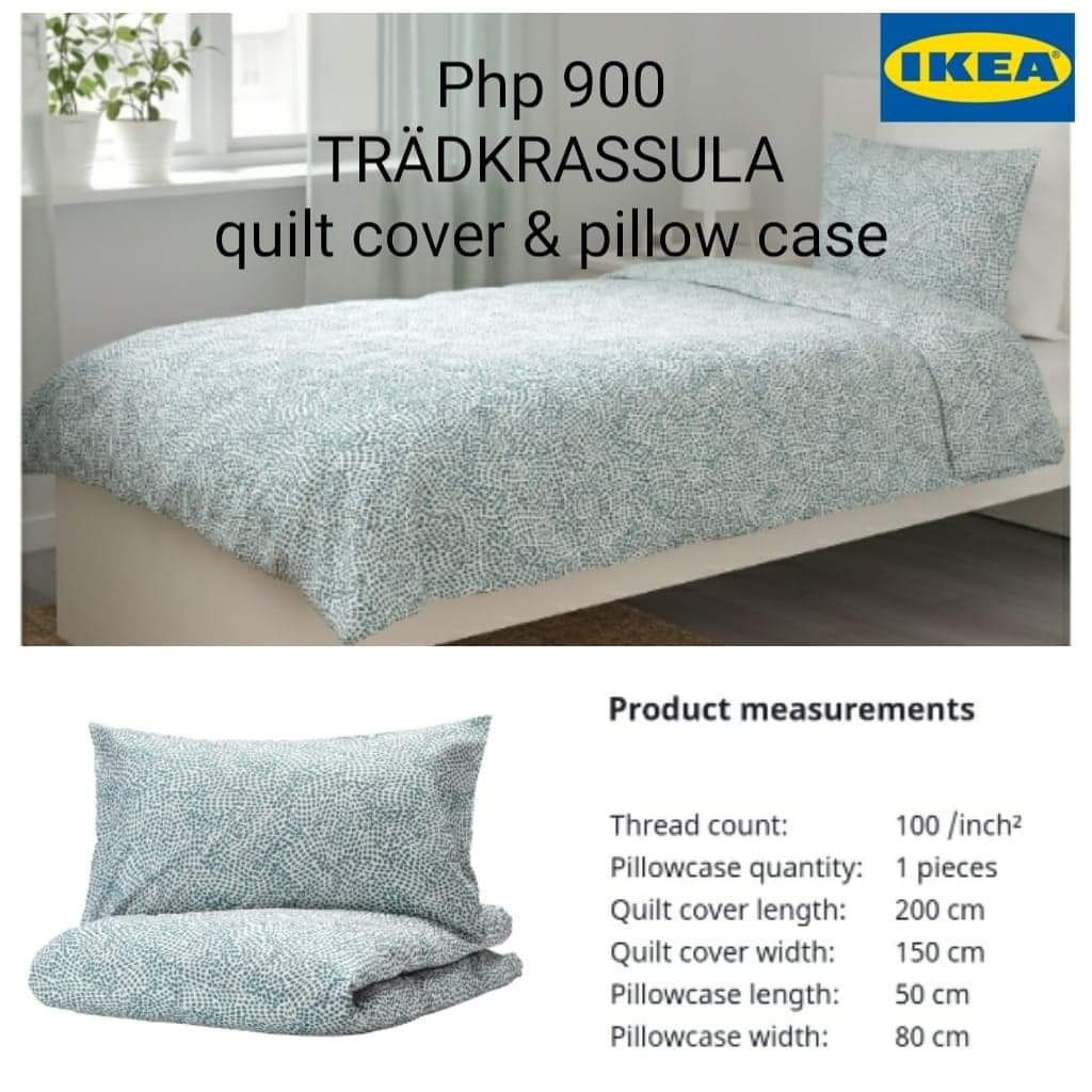 on hand ikea tradkrassula quilt cover and pillow case