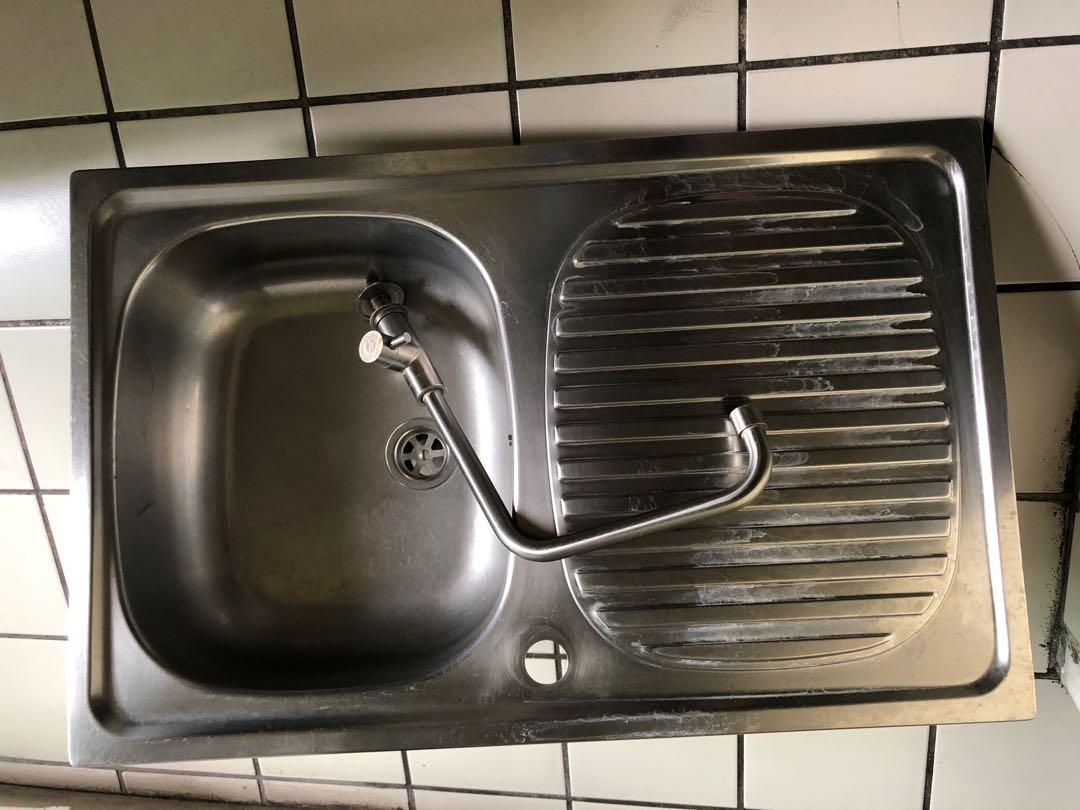 made in italy used stainless steel kitchen sink w faucet included