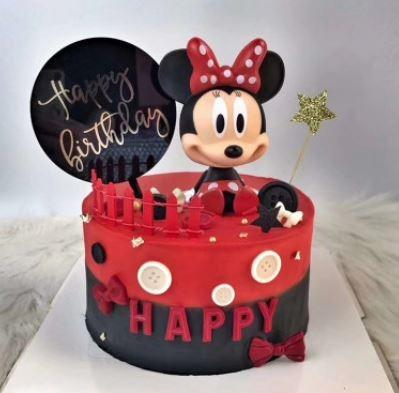 Minnie Mouse With Happy Birthday Cake Topper Mickey Mouse Hobbies Toys Toys Games On Carousell