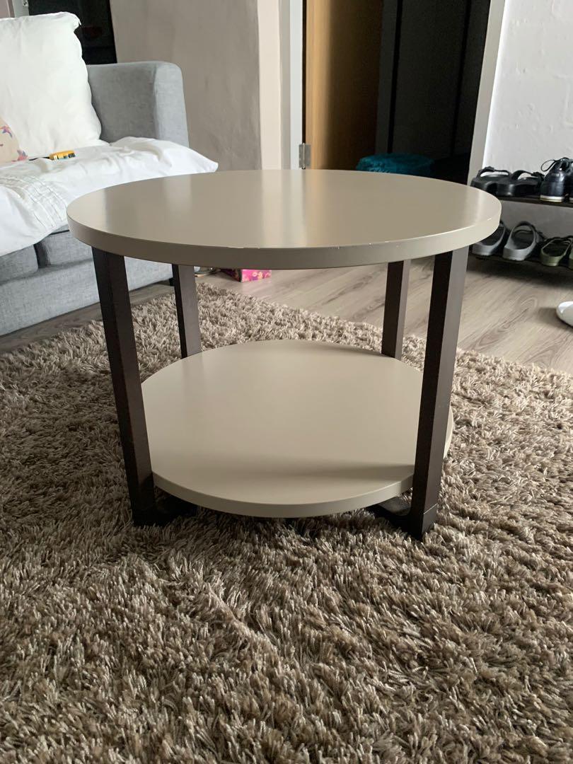 2 tier round coffee table dia 2ft 60cm