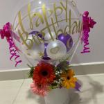 Happy Birthday Balloon Bouquet With Premium Birdnest Gardening Flowers Bouquets On Carousell