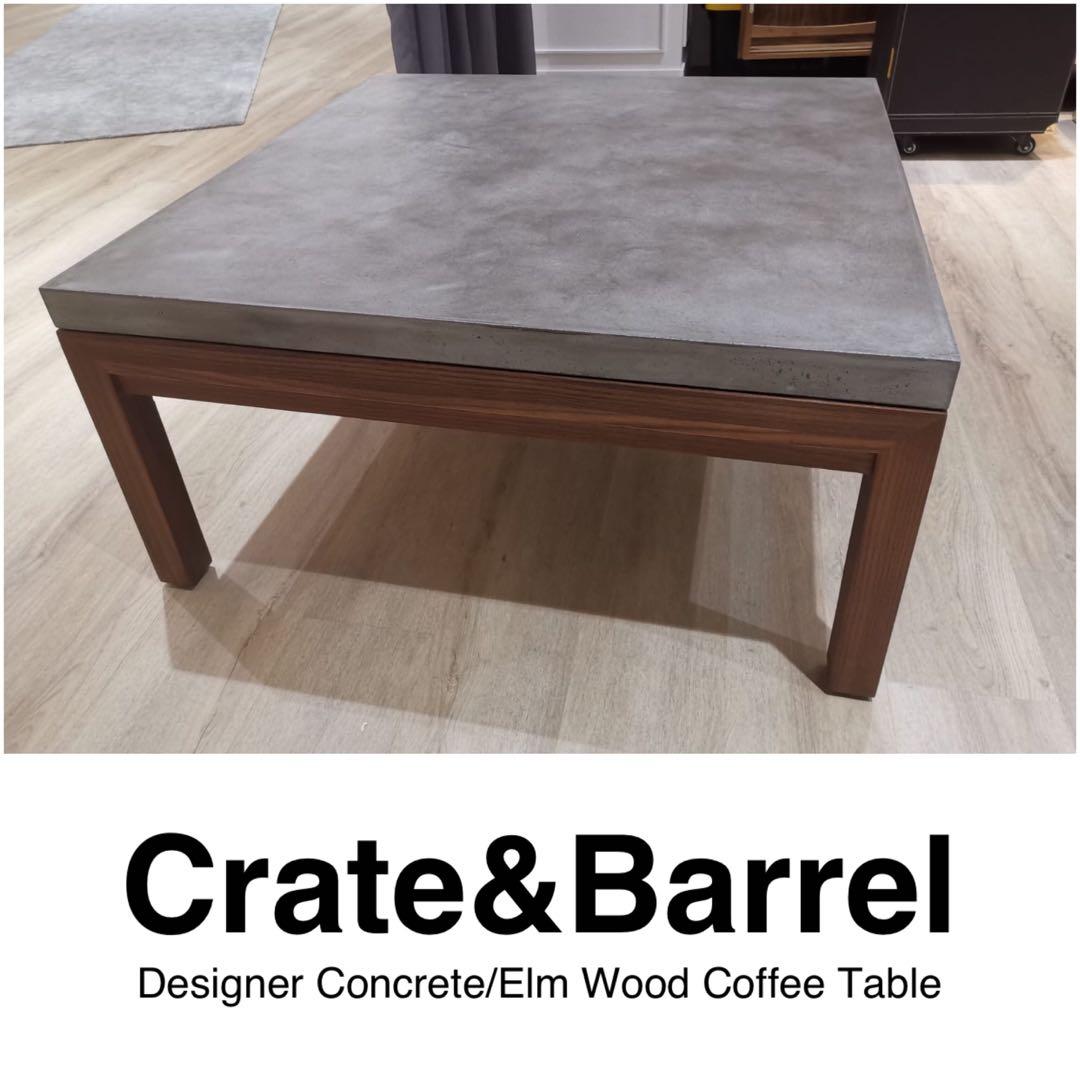 price reduced crate barrel designer concrete coffee table
