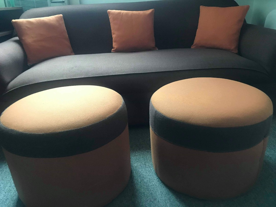 Round Sofa Chairs Furniture Home Living Furniture Sofas On Carousell