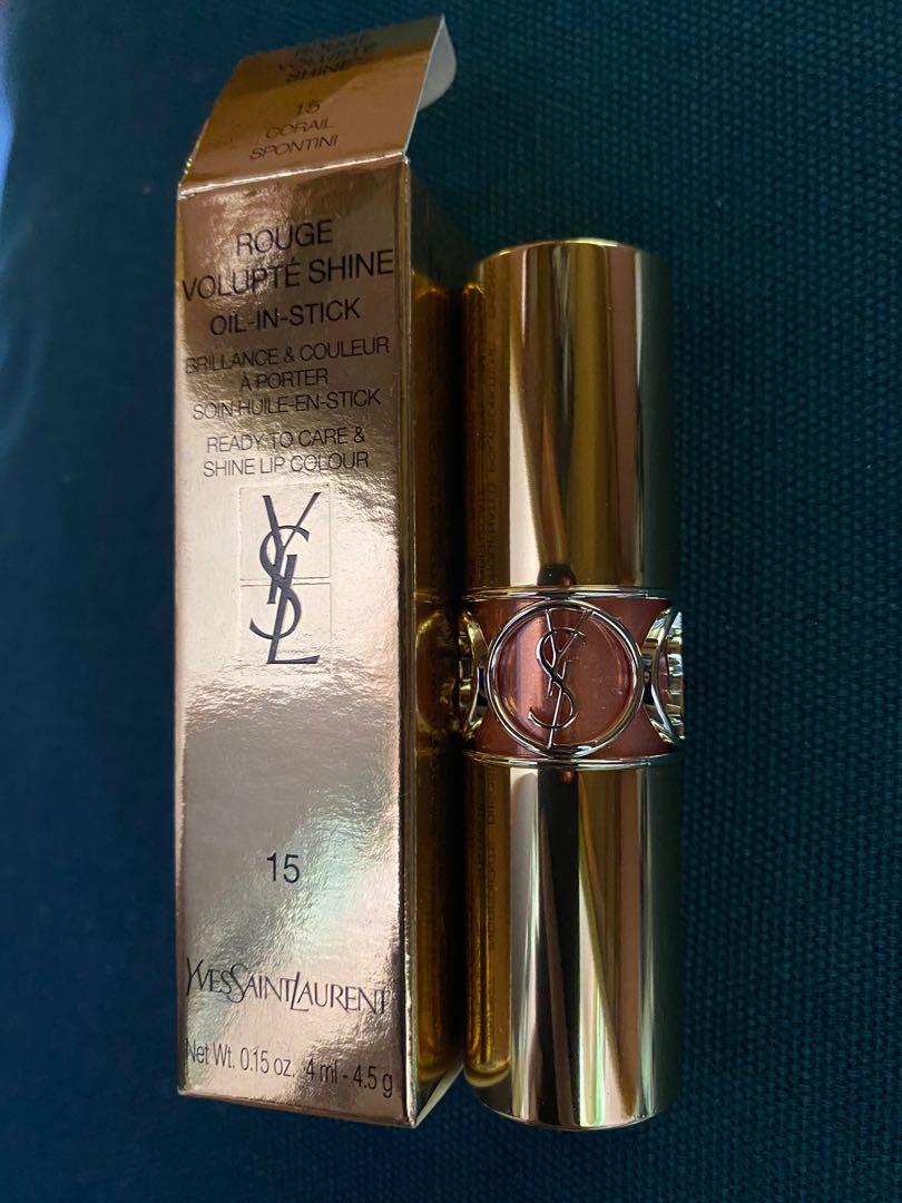 YSL唇膏 100% NEW Rouge volupté shine lipstick 15,是我第一隻ysl唇膏,但礙於我已經有唇釉也不喜歡唇蜜,內含 #8 pink in confidence及#15 corail intuitive。 目前ysl專櫃售價已調漲, 三樣都是正貨,露天, 化妝品 - Carousell