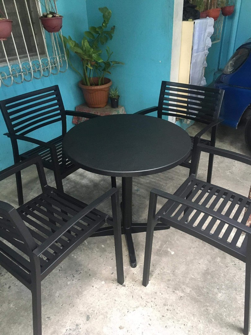 metal outdoor chair and table set