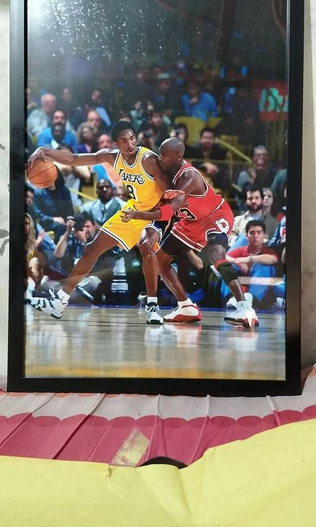 kobe bryant poster with frame jordan in frame customized available