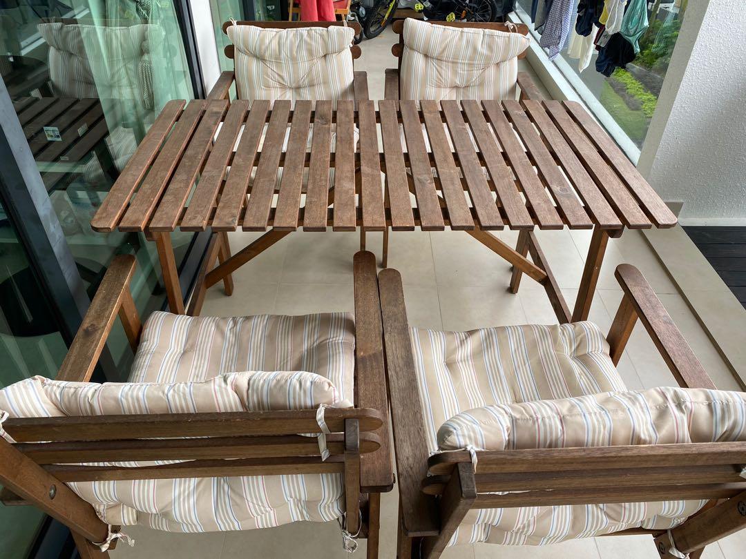 ikea falholmen outdoor dining set