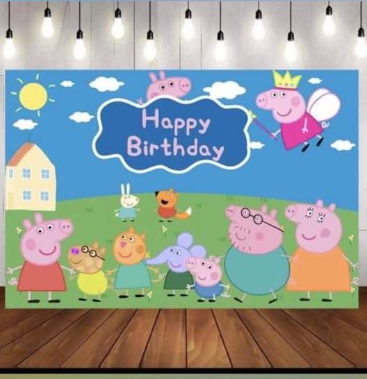 Peppa Pig Birthday Banner Hobbies Toys Stationery Craft Occasions Party Supplies On Carousell