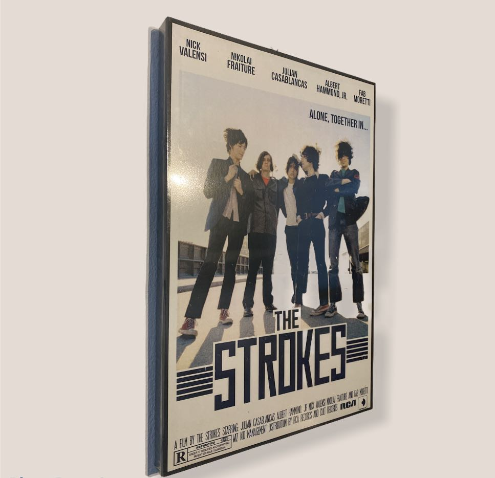 the strokes poster 12 x18 framebox