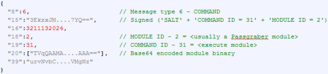 'COMMAND' C2 response with additional module to load