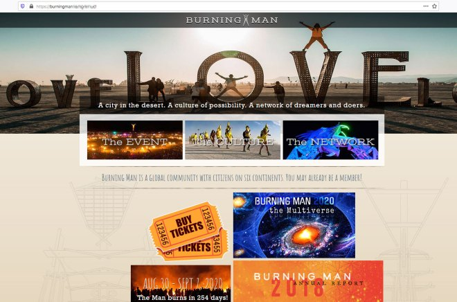 Main page, fake website