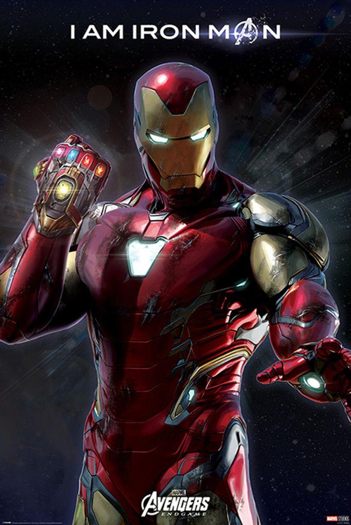 avengers endgame poster i am iron man 91 5 x 61 cm