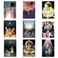 anime the promised neverland geburtstagsgeschenk wall home decor scroll poster h08