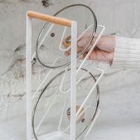 pan lid rack organizer pot lid holder backgeschirr rack kuche kochgeschirr pantry cabinet storage rack