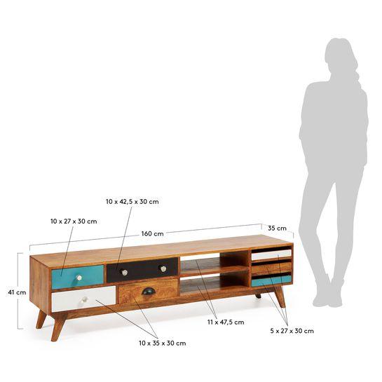 meuble tv conrad 160 x 41 cm kave home