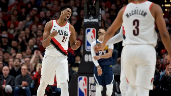 Live updates: Nuggets lead Blazers at halftime, 54-50