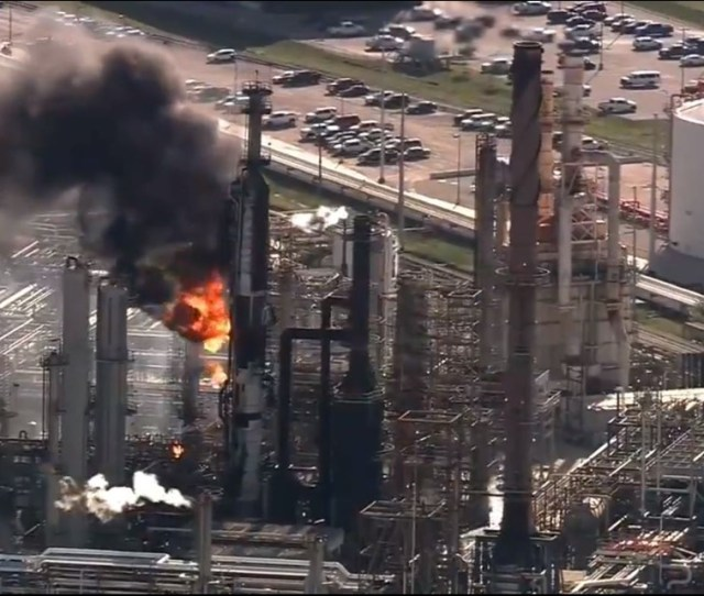 An Explosion Happened Thursday Evening At The Valero Texas City Refinery Officials Said No Injuries Were Reported And All Staff Members Have Been Accounted