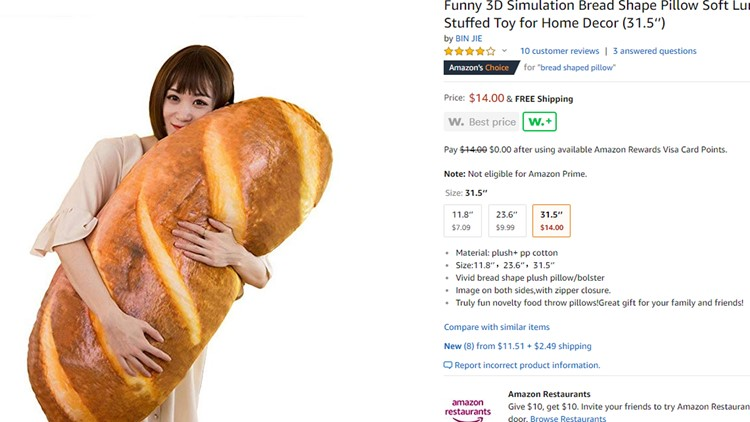 this baguette body pillow is comfy and