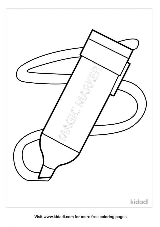 Magic Marker Coloring Pages  Free School Coloring Pages  Kidadl