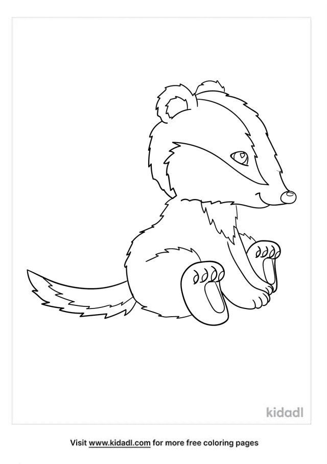 Badger Coloring Pages  Free Animals Coloring Pages  Kidadl