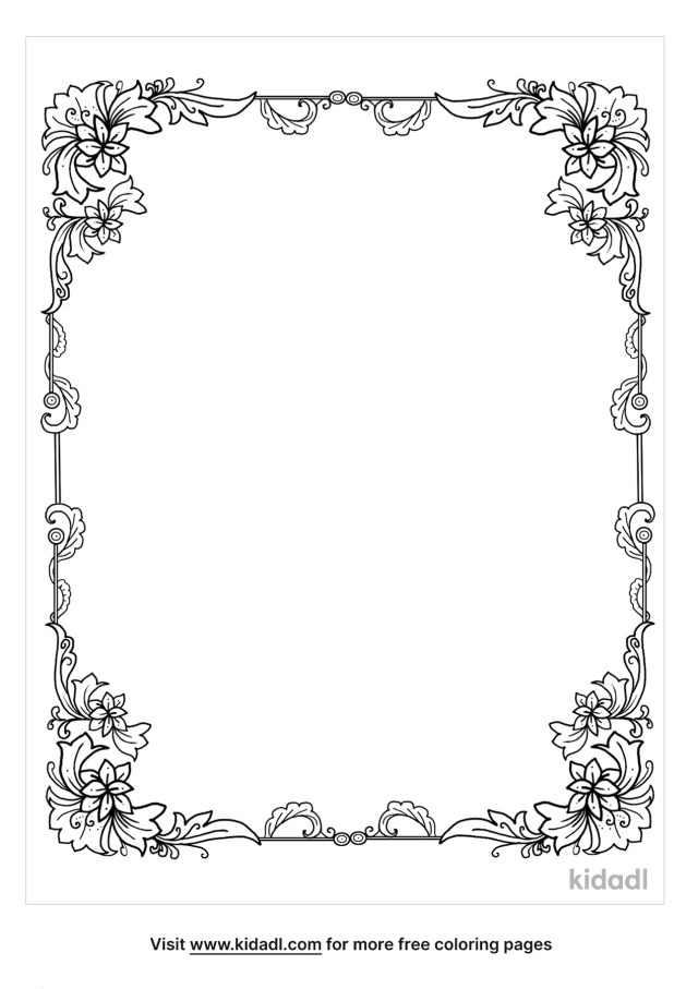 Border Coloring Pages  Free Emojis, Shapes & Signs Coloring Pages
