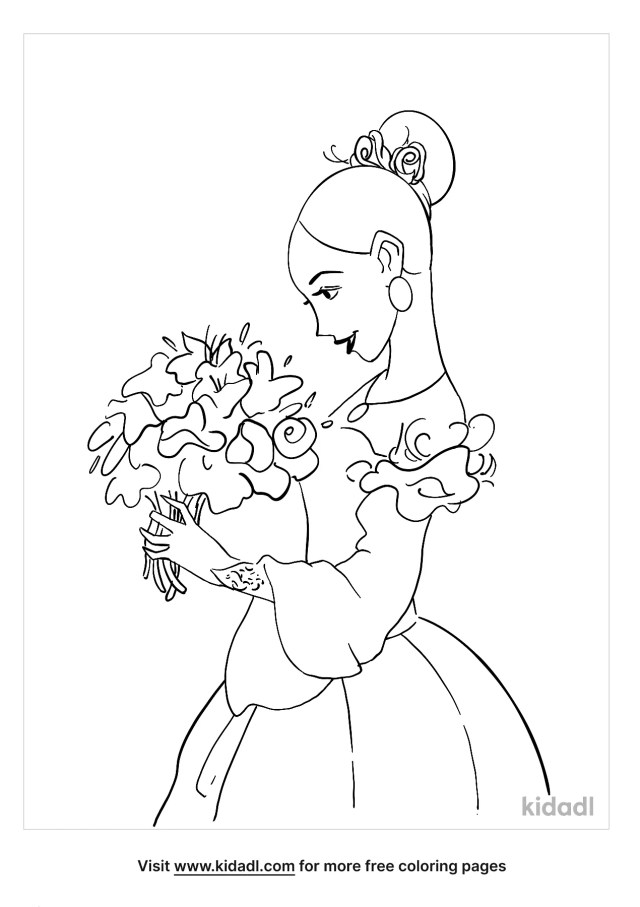 Bride Coloring Pages  Free Love Coloring Pages  Kidadl