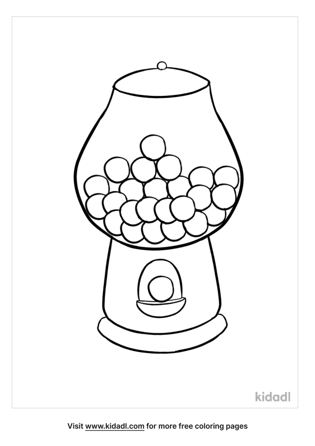 Bubble Gum Coloring Pages  Free Food Coloring Pages  Kidadl