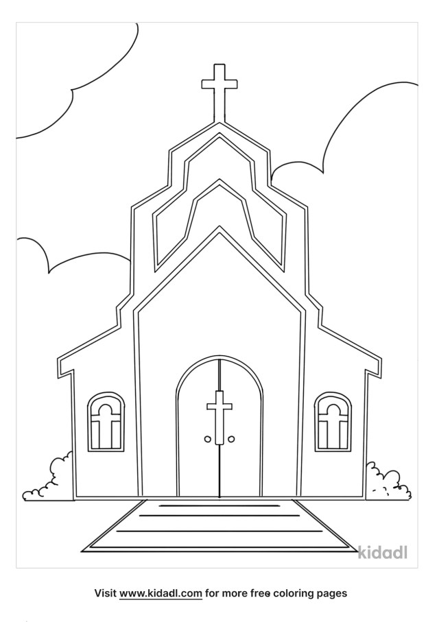 Catholic Church Coloring Pages  Free Bible Coloring Pages  Kidadl