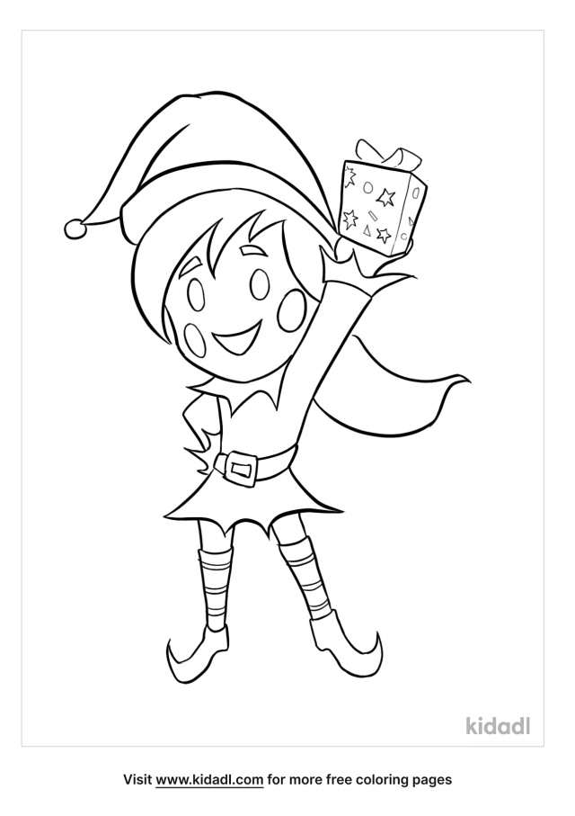 Christmas Elf Coloring Pages  Free Christmas Coloring Pages  Kidadl