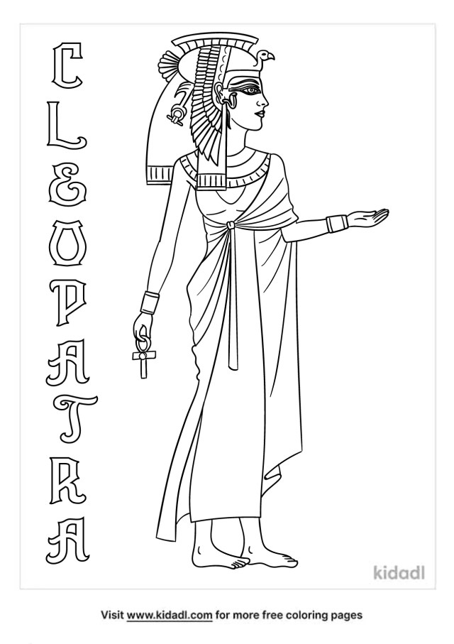 Cleopatra Coloring Pages  Free People Coloring Pages  Kidadl