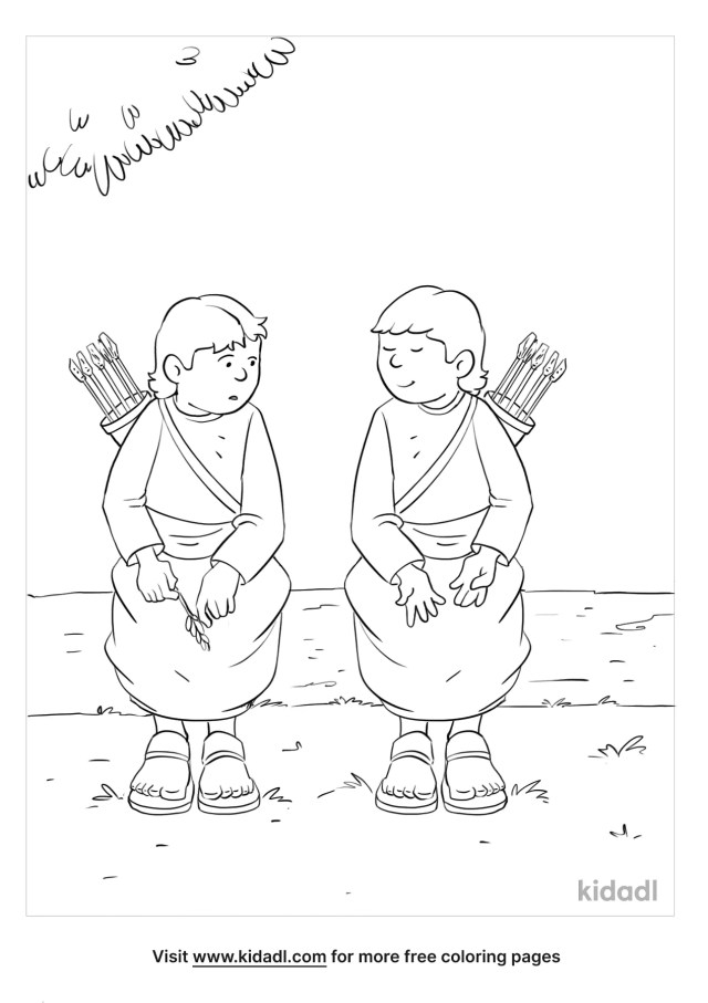 David And Jonathan Coloring Pages  Free Bible Coloring Pages  Kidadl