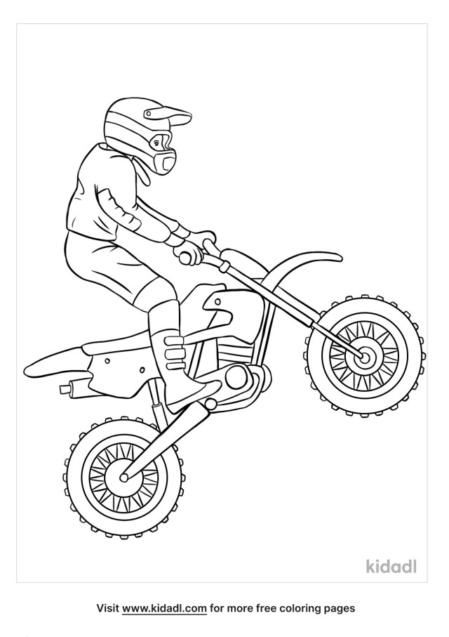Dirt Bike Coloring Pages  Free Vehicles Coloring Pages  Kidadl