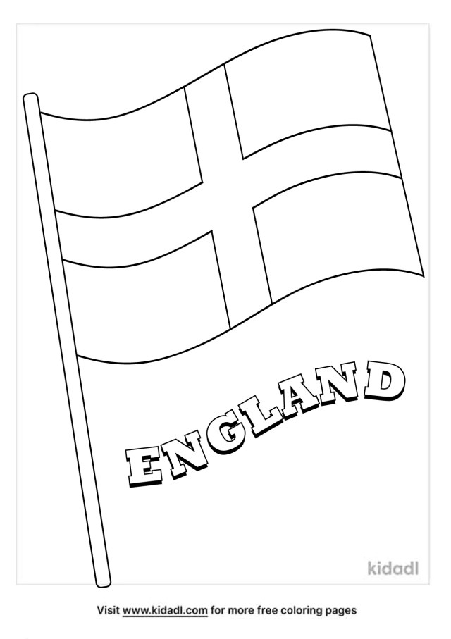 England Flag Coloring Pages  Free World, Geography & Flags