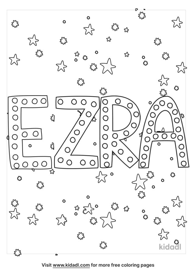 Ezra Coloring Pages  Free Words & Quotes Coloring Pages  Kidadl