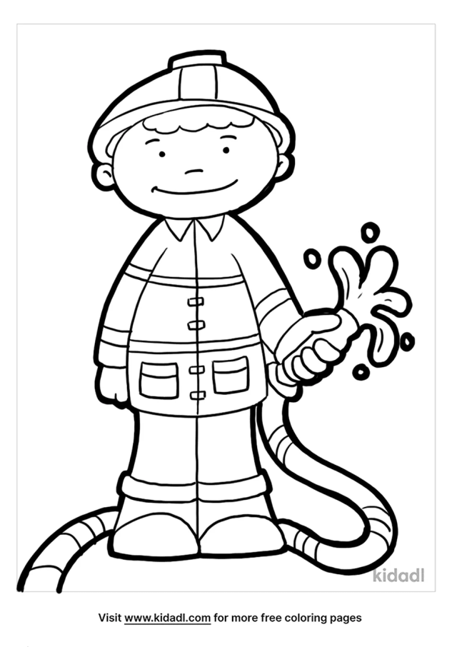 Fire Safety Coloring Pages  Free People Coloring Pages  Kidadl