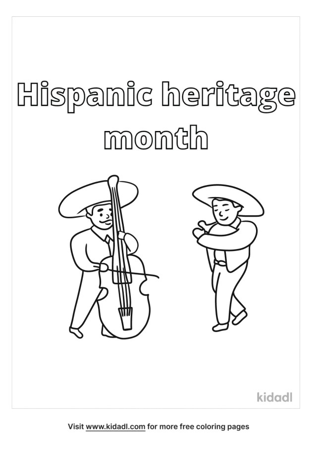 Hispanic Heritage Month Coloring Pages  Free Words & Quotes
